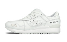 Mens Asics Gel Lyte III HL6A2 0101 White Lace Up Leather Casual Trainers