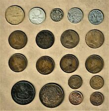 Canada, Select lot of 18 Quality coins `1837,1850,1916 and up w/ Silver