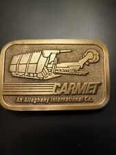 vtg NIB Carmet-An Allegheny Inernational Co Brass Belt Buckle