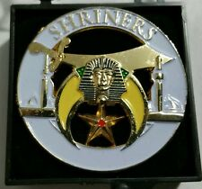 Shriners White Lapel Pin