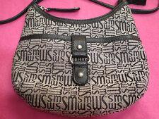 Stone Mountain Signatur Tan Canvas Leather Crossbody Small Shoulder Bag Purse