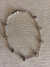 Cartier Love 18k White Gold 8 Screw Motif Charms Chain Bracelet
