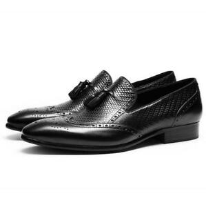 Mens Brogue Business Real Leather Shoes Wing Tip Carved Oxfords Work Office 44 L
