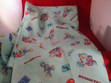 Mario Kart Nintendo Wii Promotional Turquoise Fabric Cloth LARGE Mario Luigi