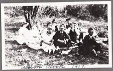 VINTAGE 1917 SAN JOSE ALUM ROCK CALIFORNIA GIRLS HAT FASHION OF ERA OLD PHOTO