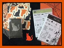 Stampin Up! NINE LIVES & SPOOKY CAT Stamp Set & CAT Punch & DSP   ***NEW*** #1
