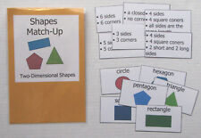 Teacher Made Math Center Learning Resource Game Shapes Match-Up