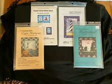 Four LIGHTHOUSE QUILT PATTERNS Hatteras, Marblehead, Round Island, White Shoal