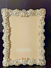 "Z Gallerie Pearl And Crystal Designer Photo Picture Frame 4""x 6"" Velvet Back"
