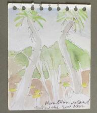 USA MARGARET ROSS TOLBERT ANCIEN TABLEAU PEINTURE HONTOON ISLAND ART ABSTRAIT