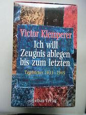 2 Bd. Victor Klemperer Ich will Zeugnis ablegen bis zum letzten Tagebücher 1933-