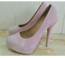 Truffle ~ Pink ~ Suede Style Heels ~ Size 6