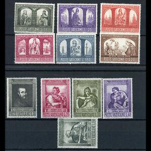 VATICAN 1964-66 Michelangelo & Millennium. SG 477-482 & 431-435.  MNH. (WD064)