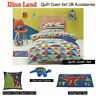Dino Land Quilt Cover Set OR Accessories Jiggle & Giggle SINGLE DOUBLE QUEEN