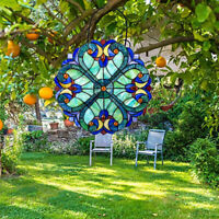 Colorful Acrylic Stained Glass Window Panel Sun Catcher Outdoor Decoration