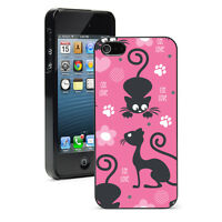 For Apple iPhone X SE XS Max XR 6 7 8 Plus Hard Case Cover 1249 Cat Hearts Paws