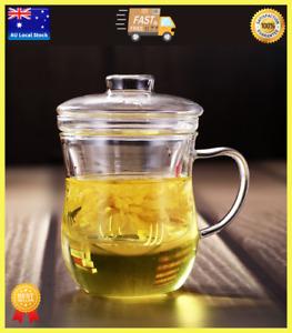 Glass Tea Cup With Glass Infuser Tea Maker Tea Mug Coffee Cup Office Cup 300ml