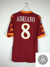 Roma ADRIANO #8 10/11 Home Football Shirt (XL) Soccer Jersey Serie A Kappa