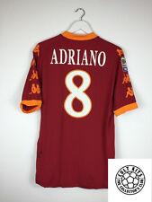 Roma ADRIANO #8 10/11 Home Football Shirt (XL) Soccer Jersey Serie A Kappa