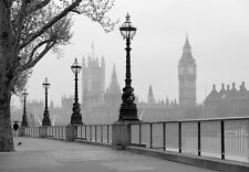 giant Wall Mural photo wallpaper 366x254cm London City Big Ben fog for bedroom