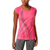 Ideology Womens Graphic T-Shirt Moltan Pink Size Medium