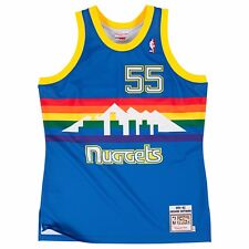 899420a01 1991-92 Dikembe Mutombo NBA Denver Nuggets Mitchell   Ness Authentic Blue  Jersey 52