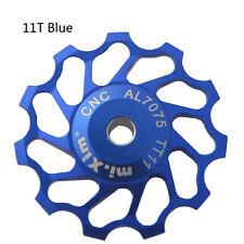 11T Jockey Wheel Road MTB Bike Rear Derailleur For SHIMANO Ceramic Bearing Blue