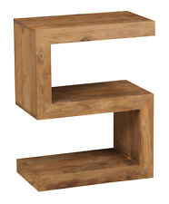 CUBA NATURAL SHEESHAM SIDE TABLE (S) (C34NW)