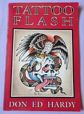 Don Ed Hardy TATTOO FLASH book 1990 RARE collectable COMPLETE large 41cm VTG