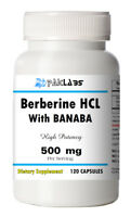Berberine HCL with Banaba Extract 500 mg High Potency 120 Capsules Big Bottle