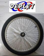 "Roue avant BMX 20 pouces pneu FREESTYLE vélo 20"" remorque 20x1.95 axe 10 NEUF"