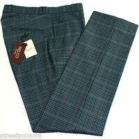 Relco Mens Stay Press Blue Tweed Trousers Sta Prest Retro Mod Skin Ska VTG
