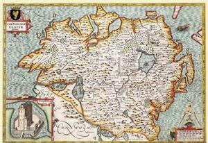 Ulster 1611 John Speed 1000 Piece Jigsaw Puzzle (jg)