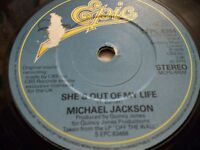 """MICHAEL JACKSON """" SHE'S OUT OF MY LIFE """" 7"""" SINGLE EPIC S EPC 8384 VERY GOOD"""