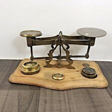 AUTHENTIC ANTIQUE VICTORIAN POSTAL SCALES PERRY AND CO LONDON WITH WEIGHTS RARE