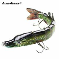 15cm Multi Jointed Fishing Lure Pike Bait Swimbait Bass Life Like Minnow Lures