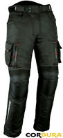 NIGHT VIZ CARGO MENS STYLISH CE ARMOUR MOTORBIKE / MOTORCYCLE TEXTILE TROUSERS