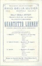 NAPOLI_MUSICA_CONCERTO_QUARTETTO LEHNER_SMILOVITS_ROTH_HARTMANN_PUBBLICITARIA