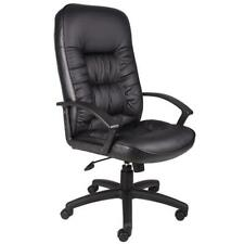 New Listingexecutive High Back Leather Chair 27 In W 275 Lb Capacity Swivel Vinyl Seat
