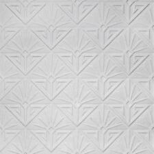 Anaglypta Art Déco Paradiso Tapete Luxus Bemalbar Wei�Ÿ Geblasen Vinyl RD576