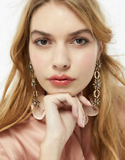 NEW MONSOON ACCESSORIZE GOLD CRYSTAL CHUNKY CHAIN STAR STARBURST DANGLY EARRINGS