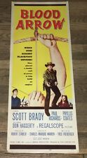 BLOOD ARROW (1958) ACTION WESTERN INSERT ~ NEVER-FOLDED - XF!