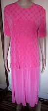 NWT PINK SHIMMER TWO PIECE SKIRT SET SIZE SMALL/MED 12/14