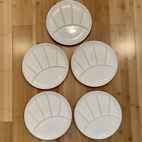 Sushi Plates Divided Fondue Made In Japan Ceramic White Matte Finish Set Of 5
