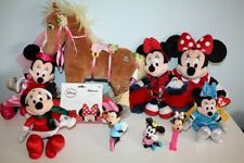 10 Disney Minnie Mouse Collectibles Stuffed Plush Animals Figurines bedding Lot