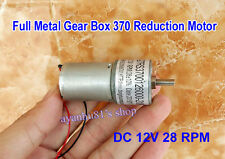 DC 12V 28RPM Large Torque Full Metal Gearbox Gear Reducer 370 DC Reduction Motor
