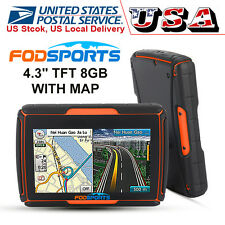 "4.3"" TFT Bluetooth GPS Vehicle Moto Waterproof Touch Screen 8GB Navigator w/ Map"