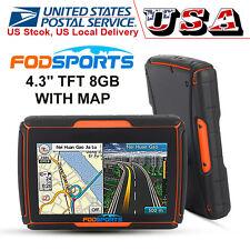 "4.3"" Tft Bluetooth Gps Vehicle Moto Waterproof Touch Screen 8Gb Navigator w/ Map"
