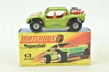 Matchbox Superfast #13 Baja Buggy Green Car with Box