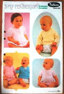 Patons Knitting Book No 456 - 10 Designs for Babies
